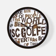 discgolfer_brown Wall Clock