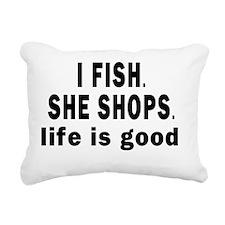 11X11 I FISH CENTERED Rectangular Canvas Pillow
