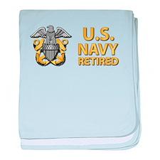 U.S. Navy Retired baby blanket