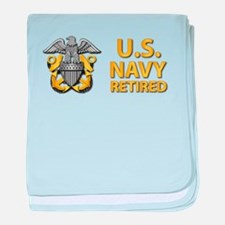 U.S. Navy Retired baby blanket