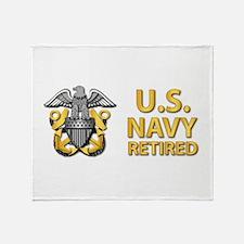 U.S. Navy Retired Throw Blanket