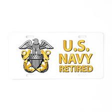 U.S. Navy Retired Aluminum License Plate