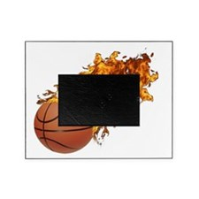 Flaming Basket Ball 2 Picture Frame