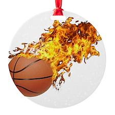 Flaming Basket Ball 2 Ornament