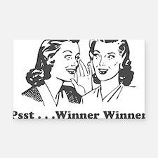 winnerwinner Rectangle Car Magnet