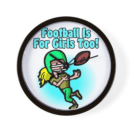 Girls Football Wall Clock
