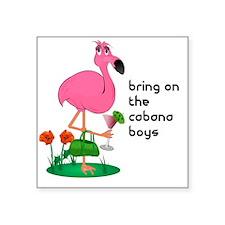 "bachelorette_cabana10x10_ap Square Sticker 3"" x 3"""