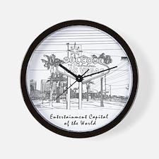 LasVegas_12x12_Wmn_plusv_front_Black Wall Clock