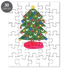 Merry Christmas, Christmas Tree, T-Shirts   Puzzle