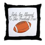 Girls & Football Throw Pillow