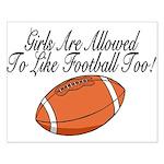 Girls & Football Small Poster