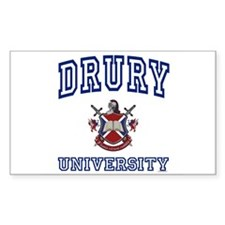 DRURY University Rectangle Decal