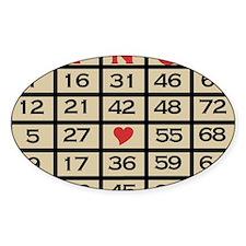 Bingo Game Card Decal