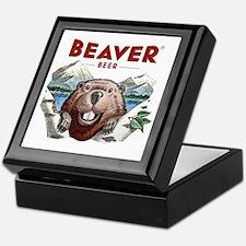 BeaverBeer_Shirt_1 Keepsake Box
