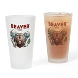 Beaver beer Pint Glasses