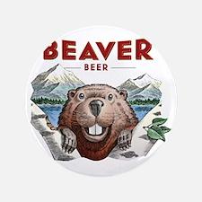 """BeaverBeer_Shirt_1 3.5"""" Button"""