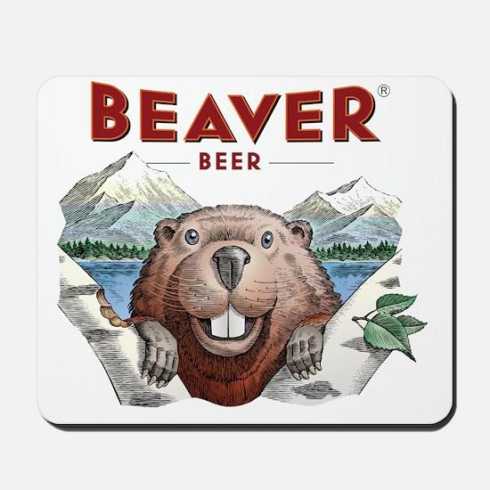 BeaverBeer_Shirt_1 Mousepad