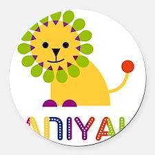 Janiyah-the-lion Round Car Magnet
