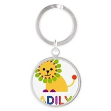 Madilyn-the-lion Round Keychain