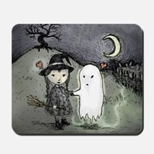 witch-loves-ghost_13-5x13-5-B Mousepad