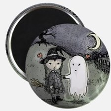 witch-loves-ghost_13-5x13-5-B Magnet