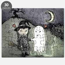 witch-loves-ghost_13-5x13-5-B Puzzle