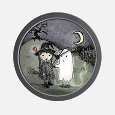 witch-loves-ghost_13-5x13-5-B Wall Clock