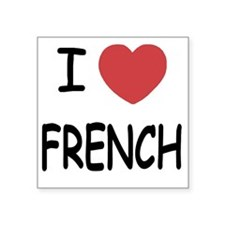 "FRENCH Square Sticker 3"" x 3"""