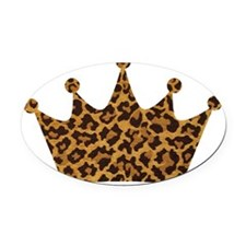 leopardcrownpillow.gif Oval Car Magnet