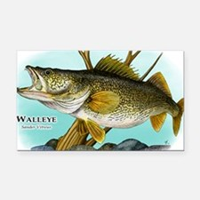 Walleye Rectangle Car Magnet