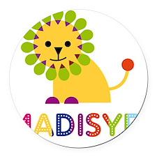 Madisyn-the-lion Round Car Magnet