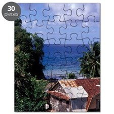 Caribbean, BWI, St. Lucia, Town of Choiseul Puzzle