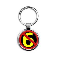 AntiSixersLogo Round Keychain