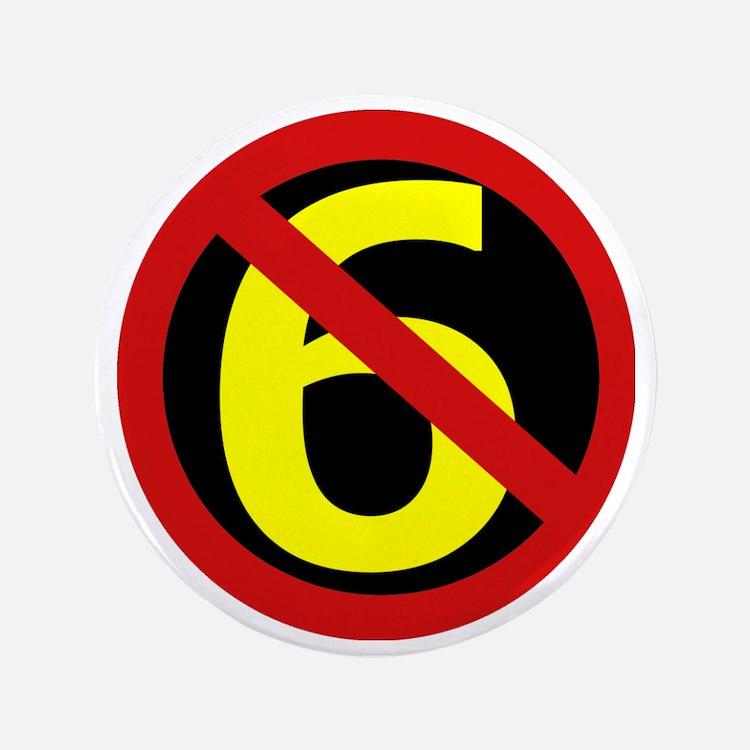 "AntiSixersLogo 3.5"" Button"