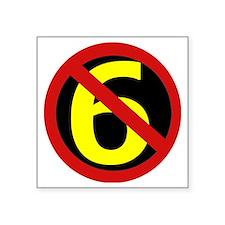 """AntiSixersLogo Square Sticker 3"""" x 3"""""""