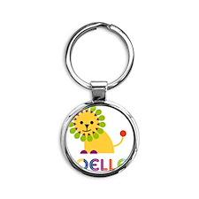 Noelle-the-lion Round Keychain