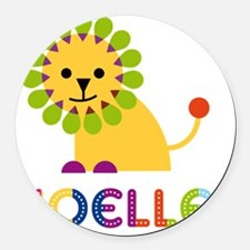 Noelle-the-lion Round Car Magnet
