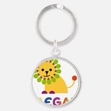 Raegan-the-lion Round Keychain