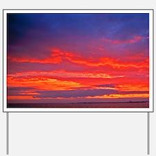 United Kingdom, Southend-on-Sea. Sunset  Yard Sign