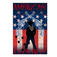 American Cowboy poster Postcards (Package of 8)