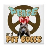 Pit bull peace Drink Coasters
