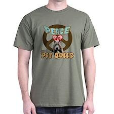 PEACE LOVE and PITBULLS T-Shirt