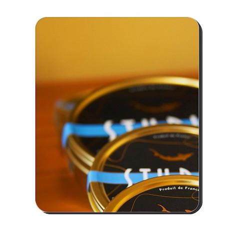 Three tins of Caviar d'Aquitaine Sturia Mousepad