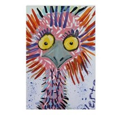Ostrich In Pink Postcards (Package of 8)