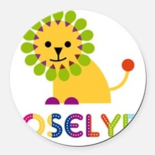 Joselyn-the-lion Round Car Magnet
