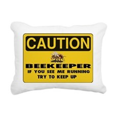 Caution Beekeeper Men Rectangular Canvas Pillow