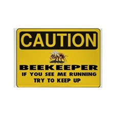 Caution Beekeeper Men Rectangle Magnet