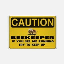 Caution Beekeeper Men Rectangle Magnet