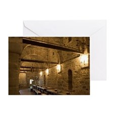 Greece, Meteora. Dining hall at Gran Greeting Card