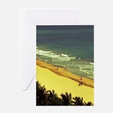 Beach view from the Water Cluban, Co Greeting Card